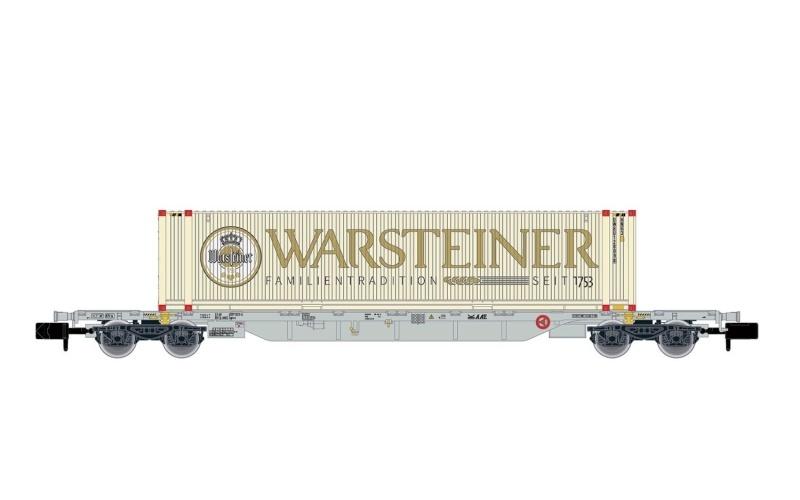 4-achs. Containerwagen, AAE, 45 Container Warsteiner, N