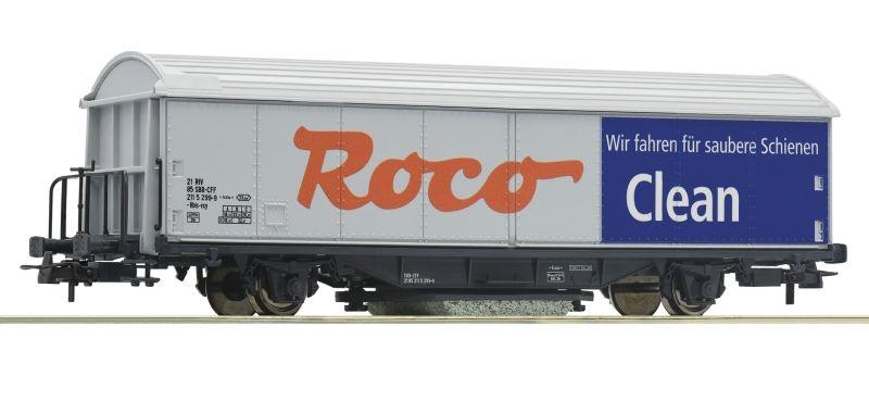 ROCO-Clean Schienenreinigungswagen H0