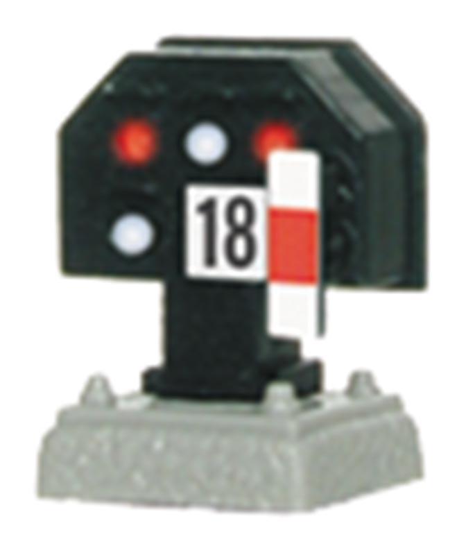 Licht-Sperrsignal, nieder, mit Funktion, Spur H0