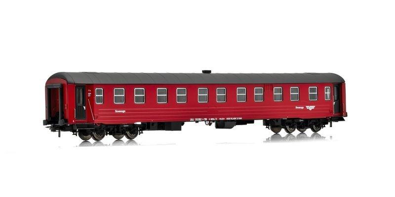 Topline Schlafwagen WLABK 21080 der NSB, rot/schwarz, H0