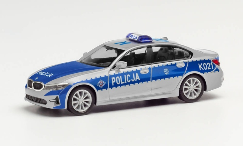 BMW 3er Limousine Polizei Polska, 1:87 / Spur H0
