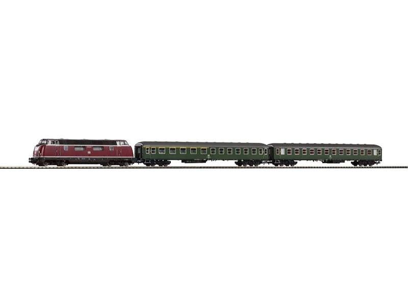 Start-Set Eilzug BR220 mit 2 Schnellzugwagen der DB, Spur H0