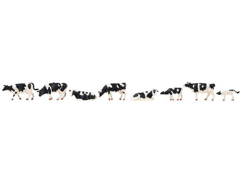 Kühe, schwarzbunt, Spur H0
