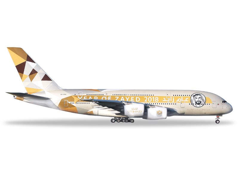 Etihad Airways Airbus A380 Year of Zayed 1:500