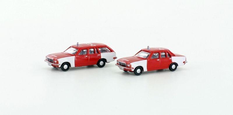 Opel Rekord D Feuerwehr 2er Set, , Epoche III / IV, Spur N