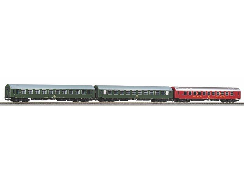 3er Set Y-Wagen D 300 der DR, Ep. IV, Set 2, DC, Spur H0