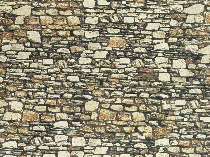 Mauerplatte Dolomit, 64 x 15 cm Spur H0, TT