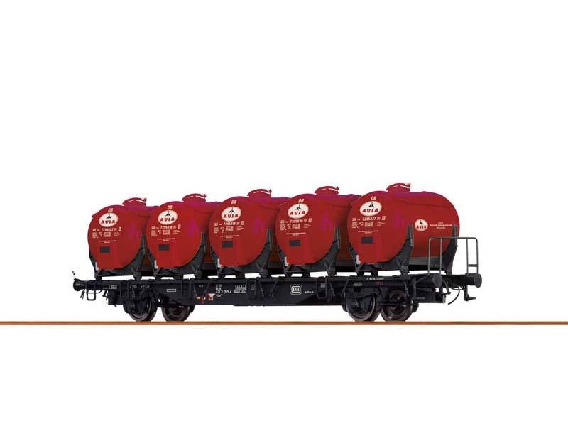 Behältertragwagen Lbs589 der DB, IV, Avia, DC, Spur H0