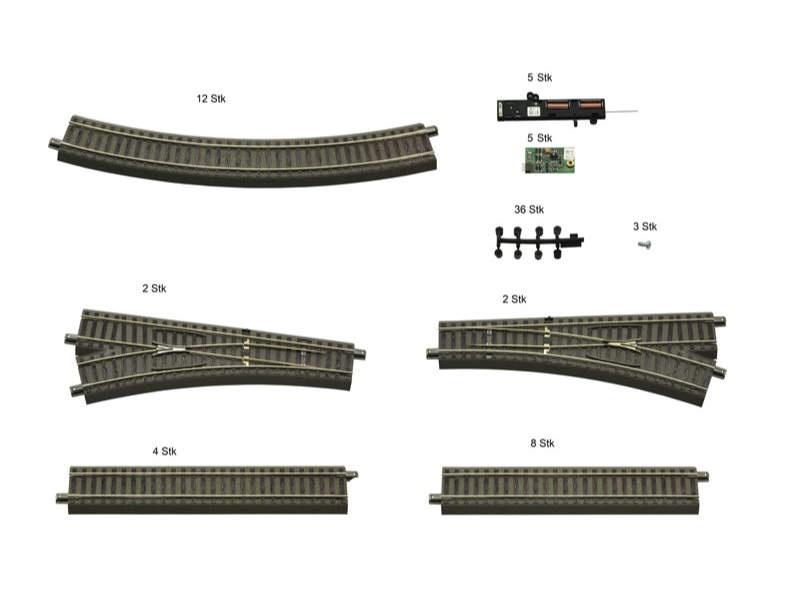 Gleis-Ergänzungsset für Digital Starter Sets H0