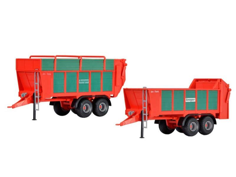 KEMPER UniTrans 1800 Häckselgutanhänger und Düngestreuer, H0