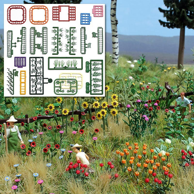Blumen-und Pflanzen-Set, Spur H0