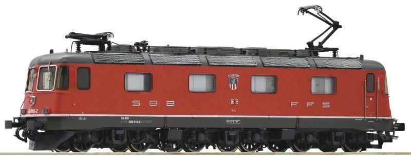 E-Lok Re 620 der SBB rot, DC, Spur H0
