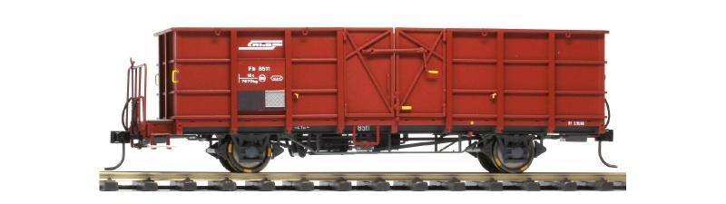 RhB Fb 8504 Stahlwand-Hochbordwagen rotbraun, Spur 0m
