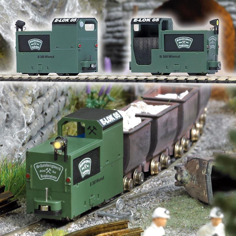 Grubenlokomotive B360 grün, Spur H0f