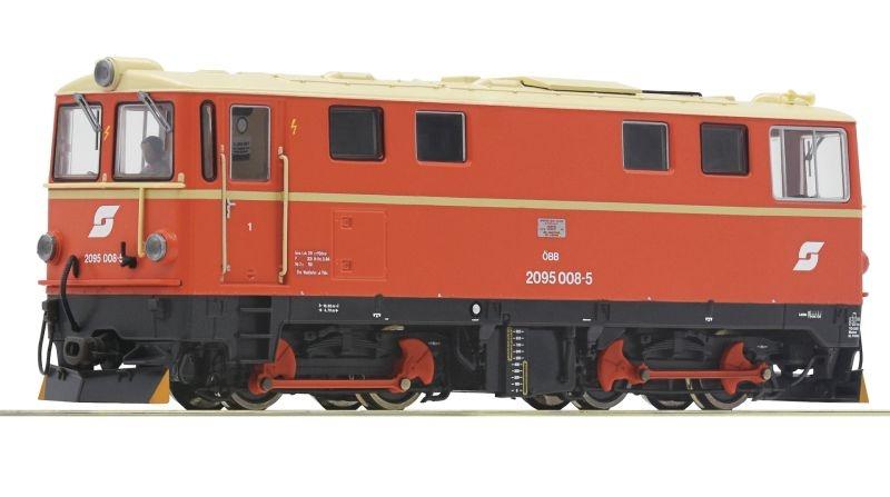 Diesellokomotive 2095 008-5 der ÖBB, DC, Spur H0e