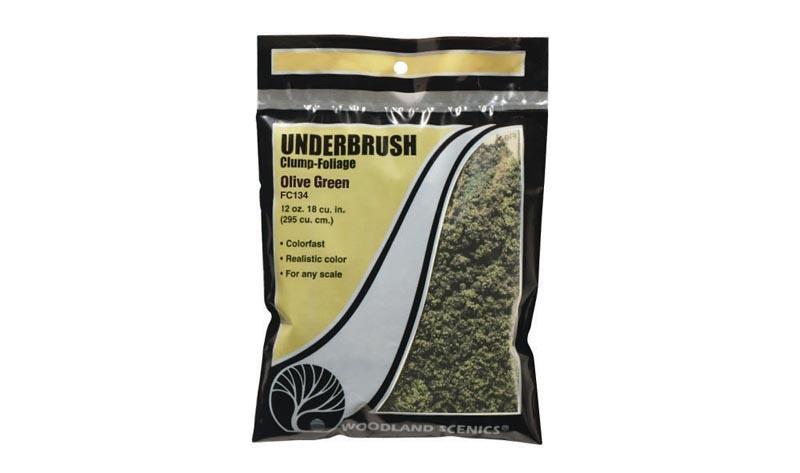Underbrush Gestrüpp - Beflockungsmaterial olivgün Beutel