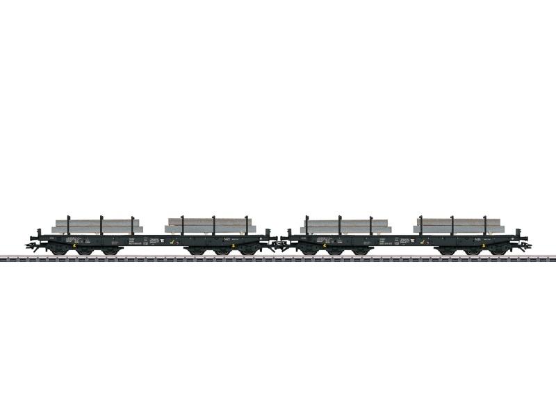 Güterwagen-Set 6-achsige Schwerlastflachwagen, NS, AC, H0