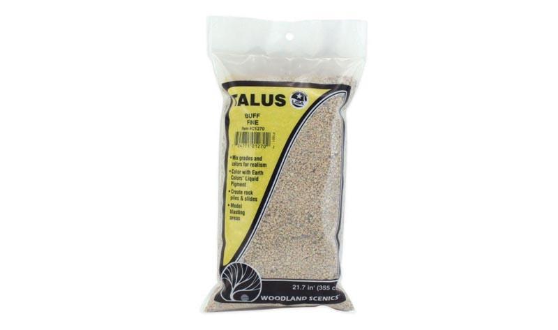 Talus - Gesteinsbrocken, sandfarben, fein