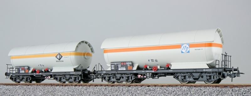 Gas-Kesselwagen Set, ZAG 620, Degussa, DB, weiß, DC, Spur H0