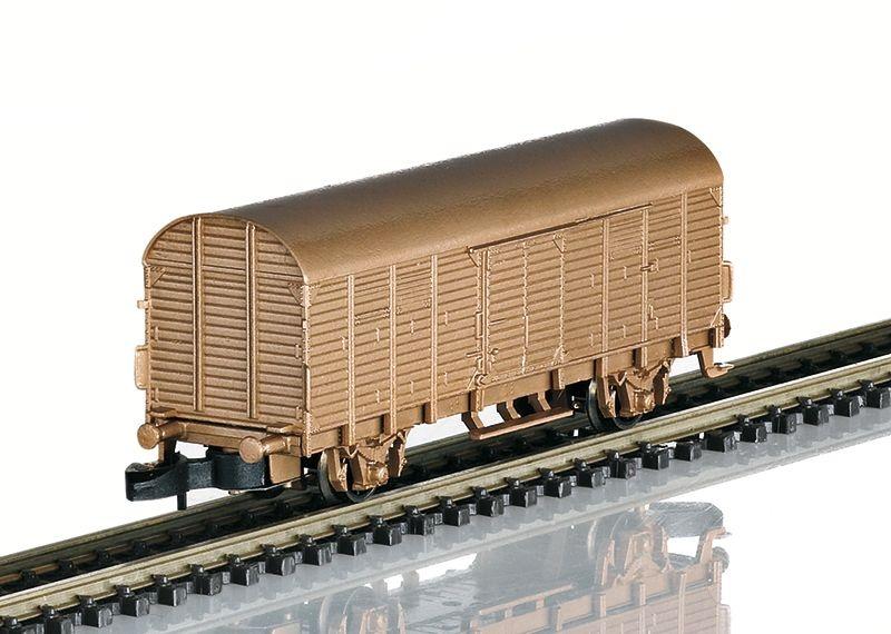 Gedeckter Güterwagen Typ Gl Dresden in Echtbronze, Spur Z