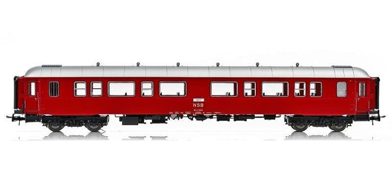 Topline Personenwagen B3-2 Type 3 25510 der NSB,Rotsilber,H0