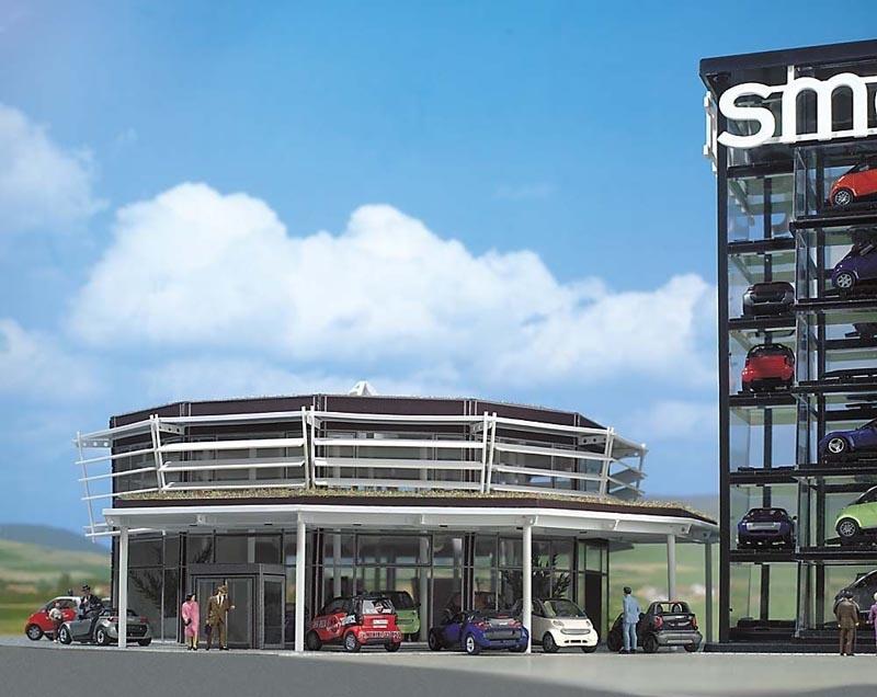 Smart Verkaufsgebäude Bausatz, Spur H0