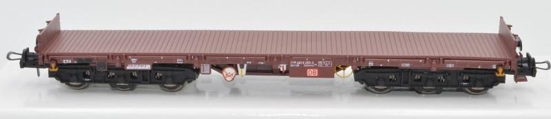 Schwerlastwagen Salmms 454, rotbraun, DB AG, DC, Spur H0