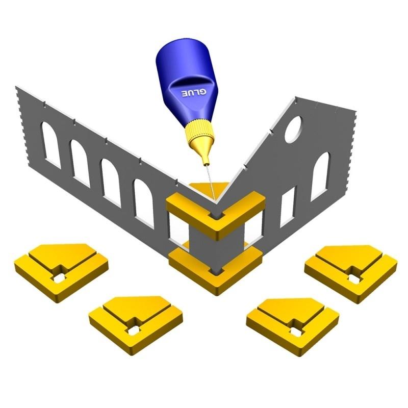 Snap & Glue-Rechtwinkel (4 magnetische Halterungen)