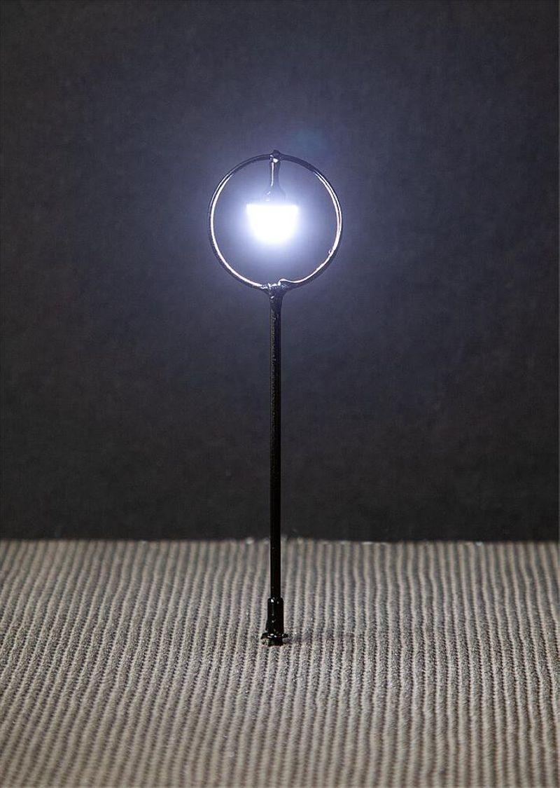 LED-Parklaternen, Kugel-Hängeleuchte, 3 Stück, H0