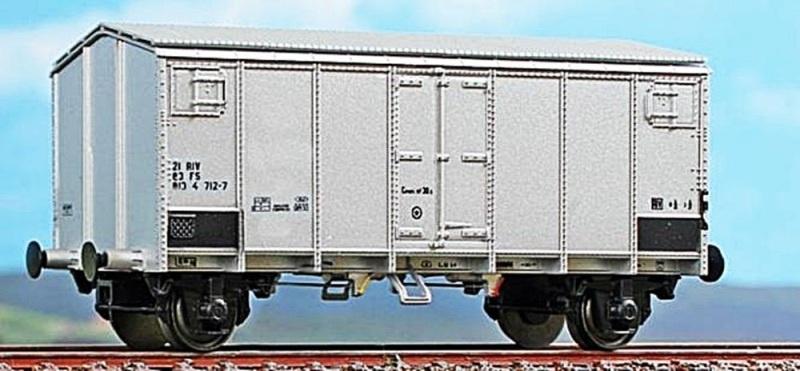 Kühlwagen Typ HG der FS, Alu-Farbe, DC, Spur H0