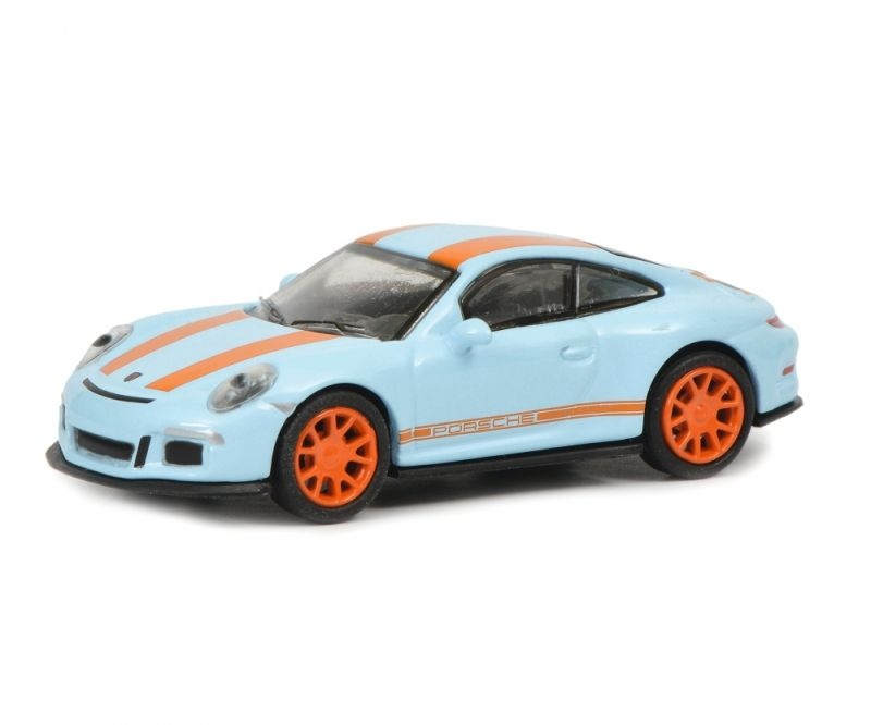 Porsche 911 R, gulfblau orange, 1:87 / Spur H0