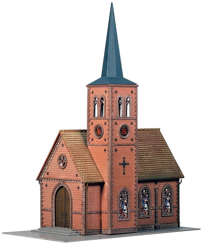 Kleinstadt-Kirche Bausatz H0