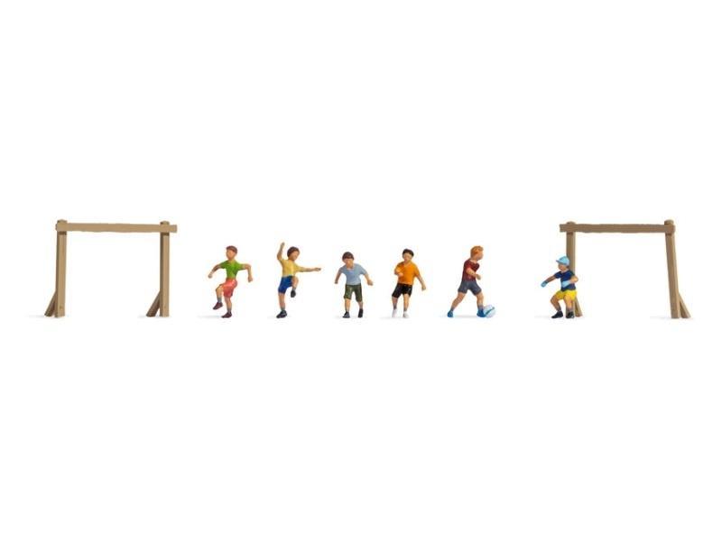 Kinder auf dem Bolzplatz Figuren, Spur H0