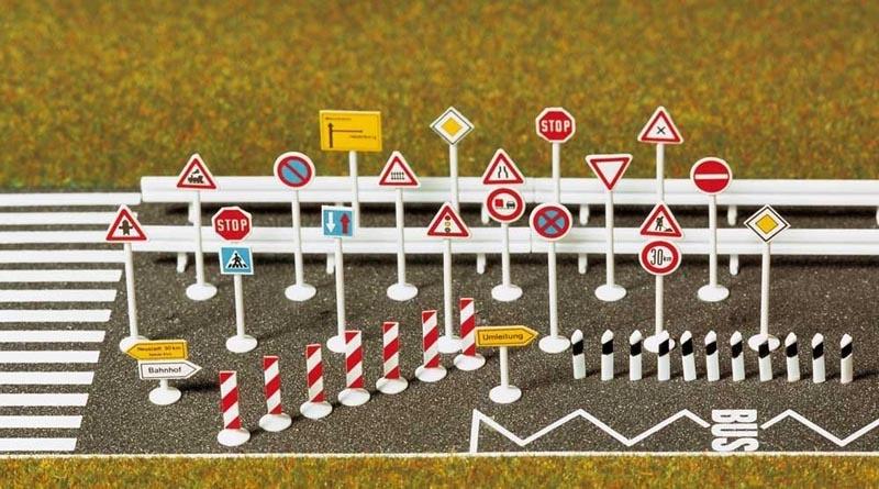 Verkehrszeichen-Set, Spur H0