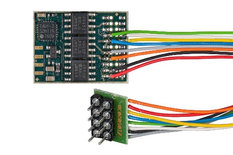 Fahrzeugdecoder DH21A mit Anschlusskabel für NEM 652