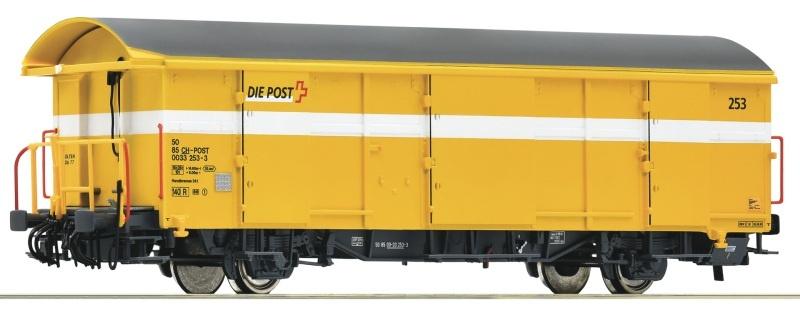 Postgüterwagen Z2 gelb, SBB, DC, Spur H0