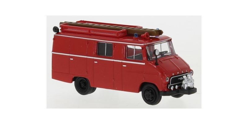 Opel Blitz LF 8 rot, schwarz, 1959, 1:87 / H0