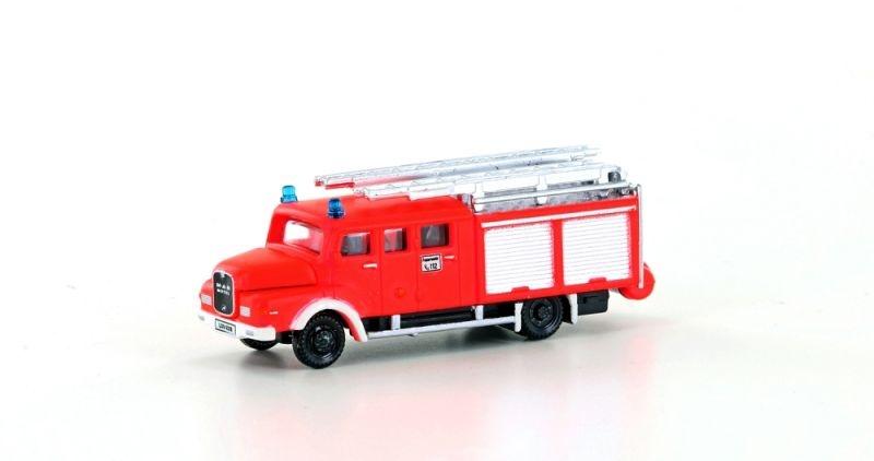 MAN LF 16-TS Feuerwehr, leuchtrot, Ep. III, IV, Spur N
