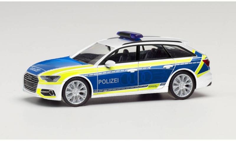 Audi A6 Avant Polizei / Audi Vorführfahrzeug, 1:87 / H0