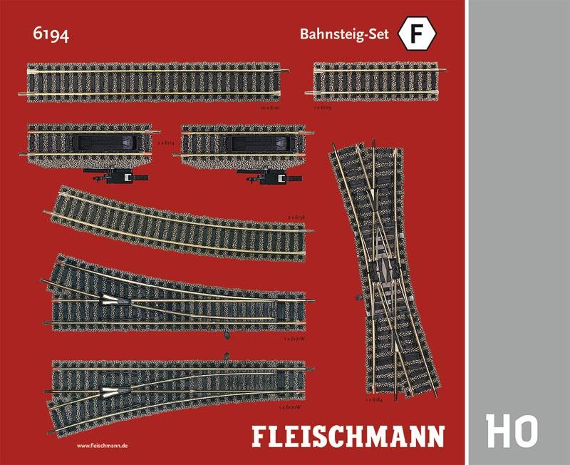 Bahnsteig-Set F Gleiserweiterung Profi-Gleis H0