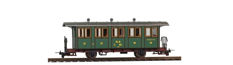RhB C.66. Nostalgie-Zweiachsiger Personenwagen, Spur H0m