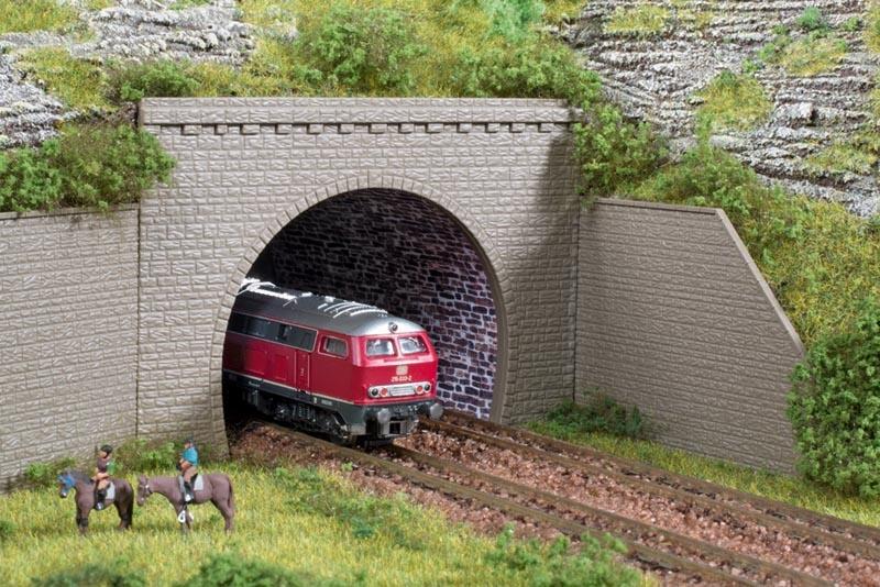 Tunnelportale zweigleisig, 2 Stück, Bausatz, Spur N