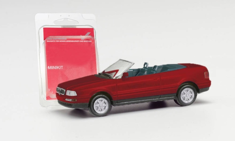 Minikit Audi Cabrio, weinrot, 1:87 / H0