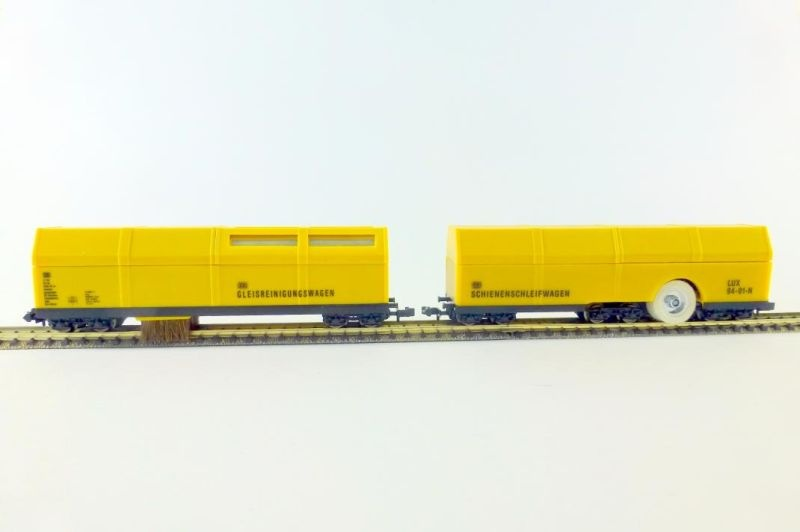 Gleisstaubsaugerwagen und Schienenschleifwagen, Spur N