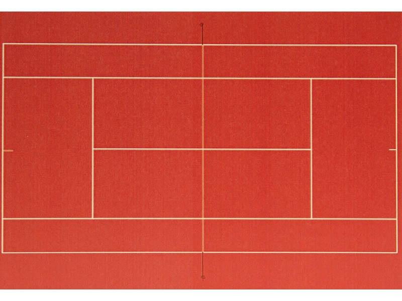 Themen-Set Tennisplatz Spur H0