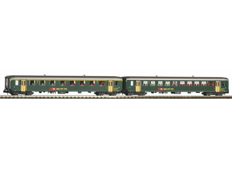 2er Set EW I-Wagen 1. Klasse und 2. Klasse SBB IV, Spur N