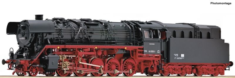 Dampflok BR 44 mit Ölfeuerung der DR, Sound, DC, Spur H0