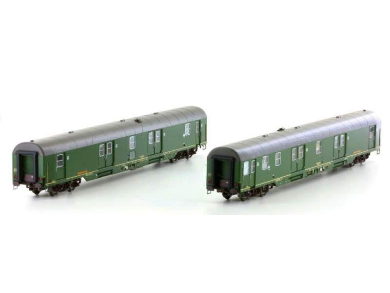 Set Postwagen, grün, der Deutschen Post AG, Ep.V, Spur H0