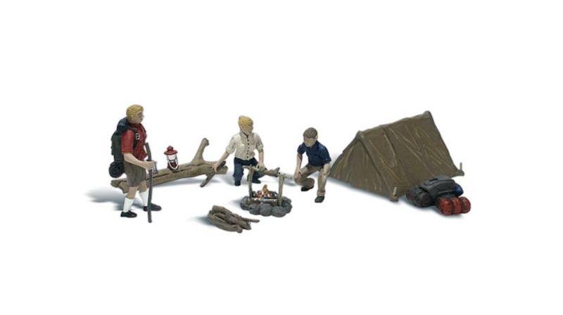 Leute beim Camping, Figuren, Spur H0