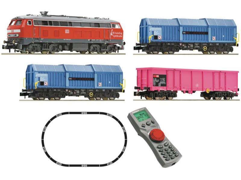 Digitales Startset: Diesellok BR 218 mit Güterug, DB, Spur N